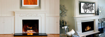 Make a Statement with Artwork over the Fireplace Mantle