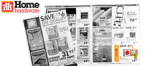 Hang & Level in Home Hardware Paint Flyer