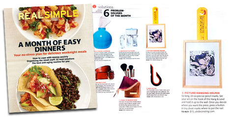 Hang & Level is a 'Problem Solver of the Month' for Real Simple Magazine