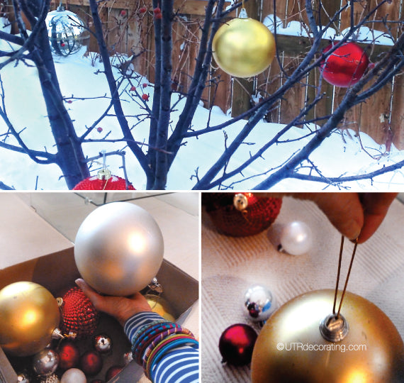 Decorating with outdoor ornaments