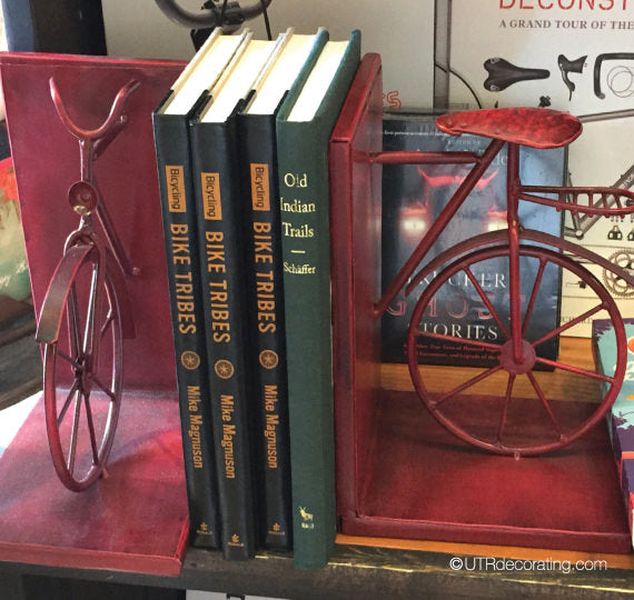 Red bike bookend