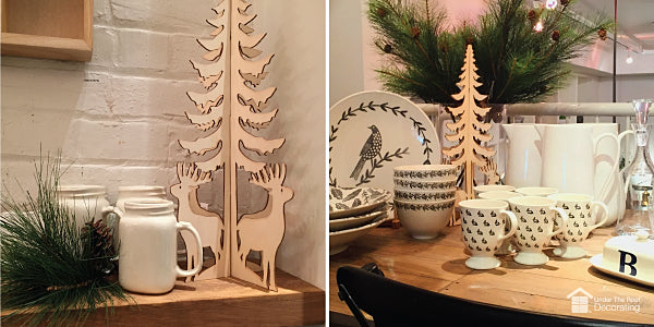 decorative wooden trees - great for holiday and Christmas decorations