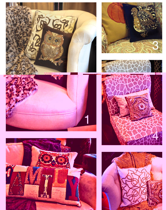 Fall decorating idea - 5 different throw pillow looks