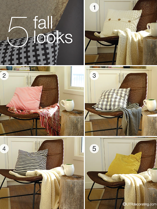 5 ways to achieve an easy fall house makeover with cushions and throws