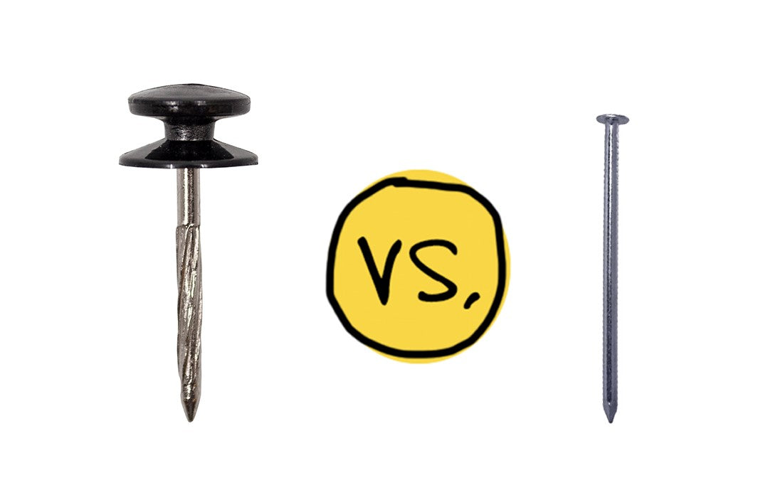 DecoNail compared to a traditional nail
