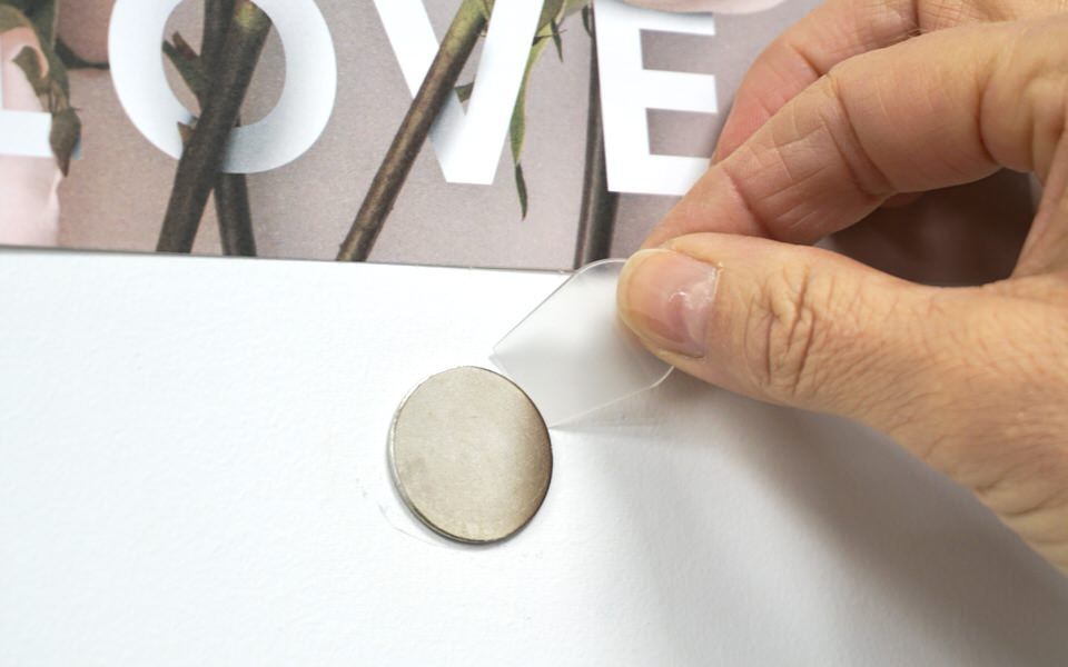 Using removal toll to remove disk from the wall
