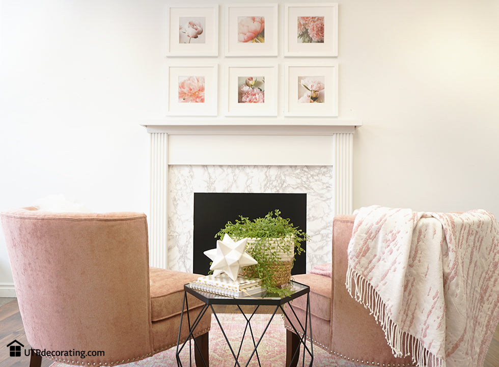 Here we go! Gallery wall above the fireplace using Place&Push frames