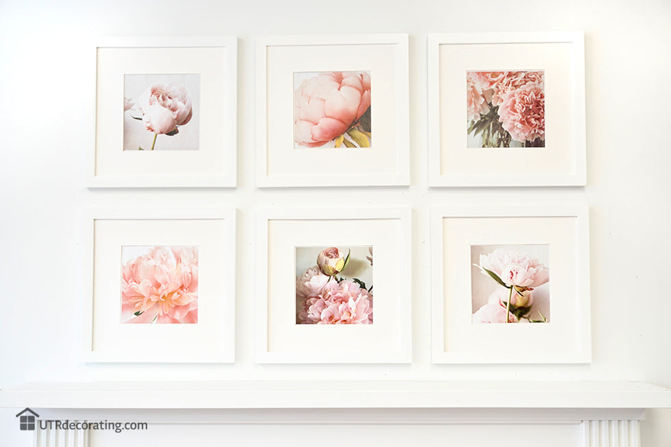 Gallery wall created with white Place&Push frames