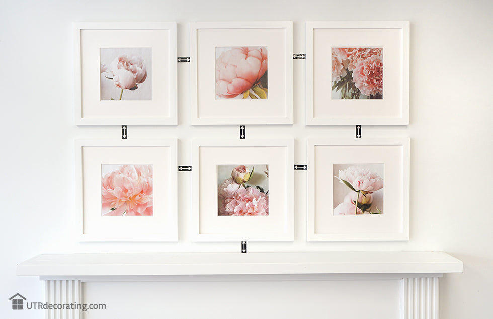 Gallery wall created with Place&Push Frames