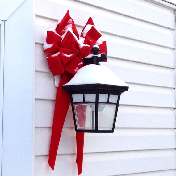 Deco Tip lantern red bow