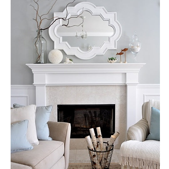 How to hang a mirror above a fireplace