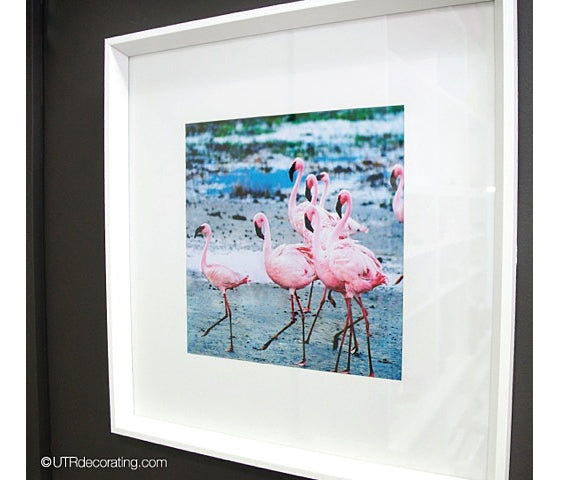 Embracing the flamingos décor trend: with DIY framed art