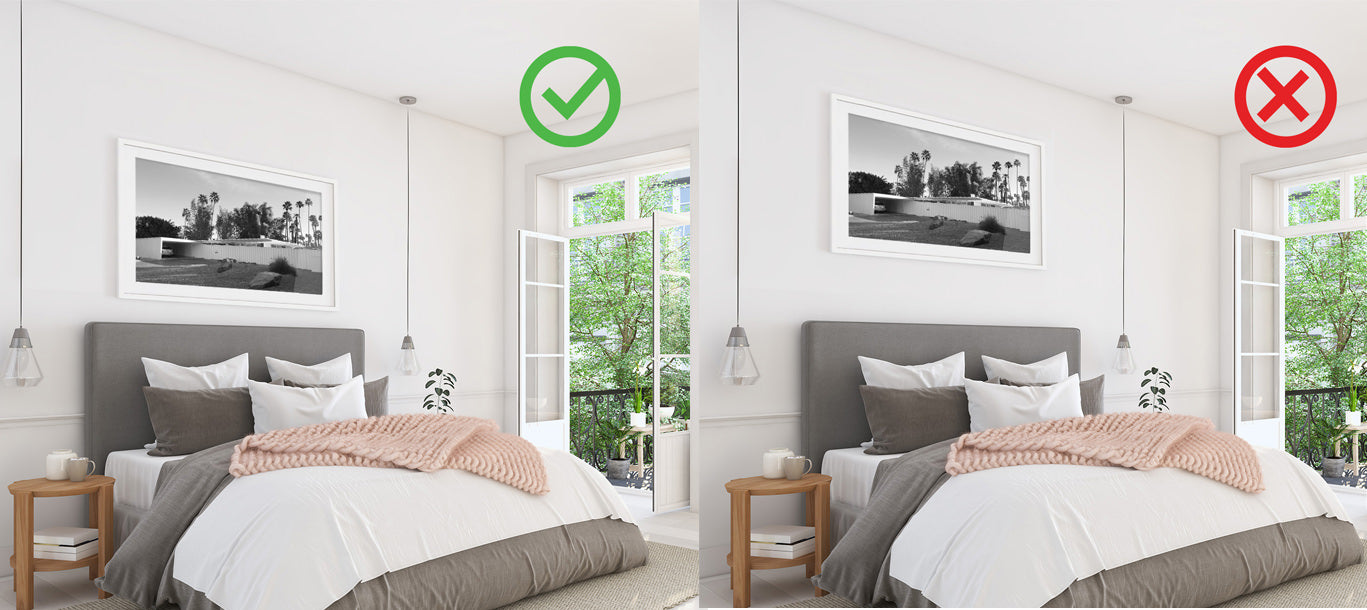 Avoid this common picture hanging mistake