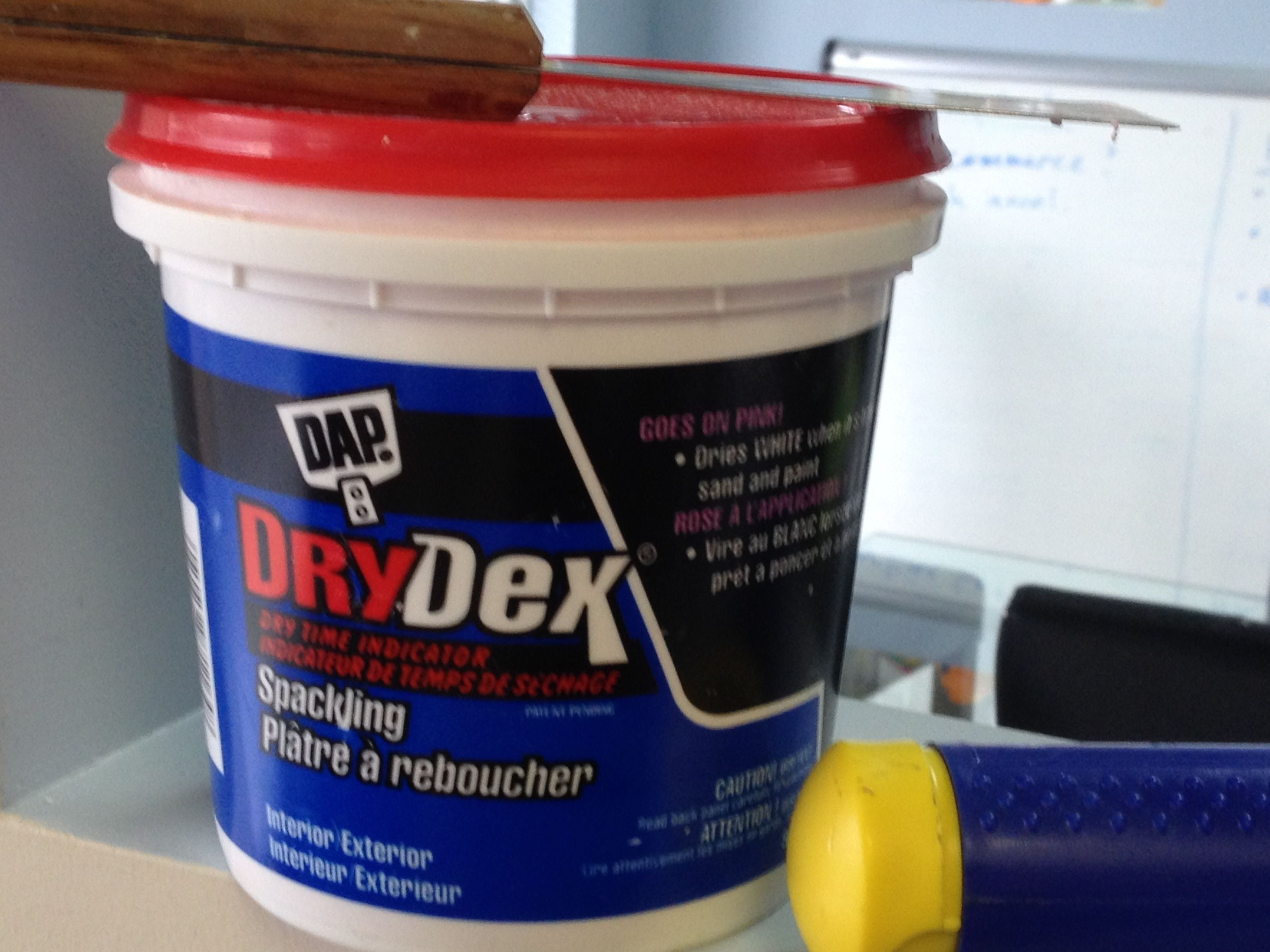 tub of DryDex spackling