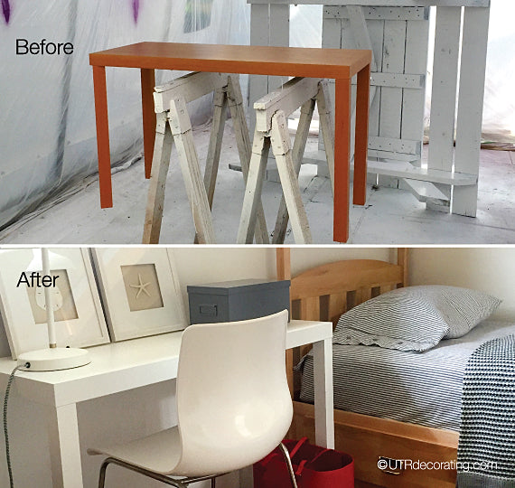 IKEA table makeover