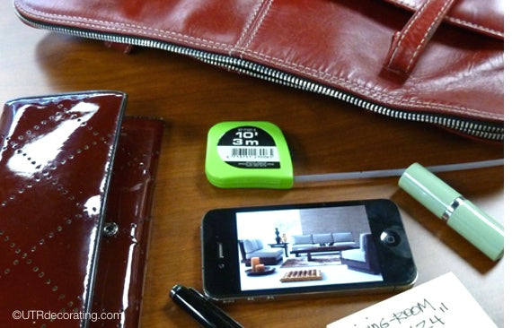 Measuring tape in purse