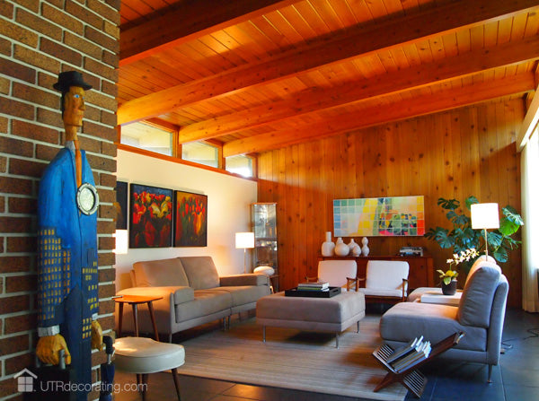 the living room, part of this Calgary Mid-century modern house tour
