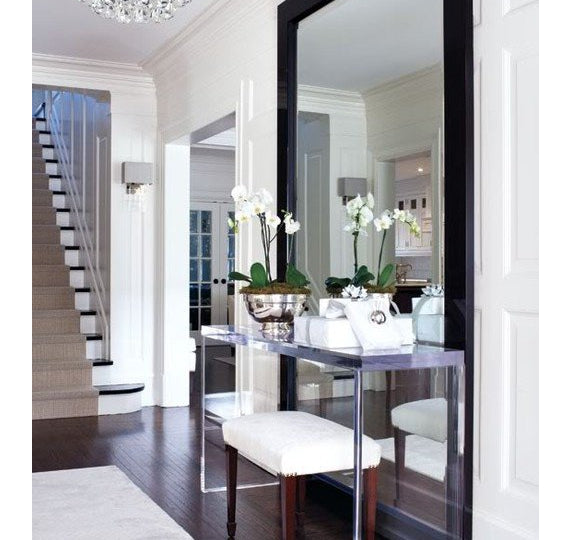 Mirror in foyer