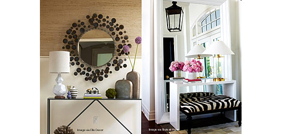 Hang a mirror in your entrance way wall, it will automatically visually expand your space and feel so much brighter