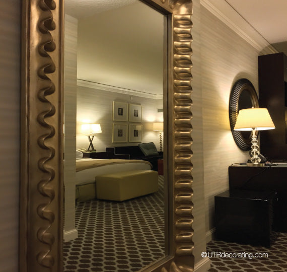 Large scale mirror in hotel room