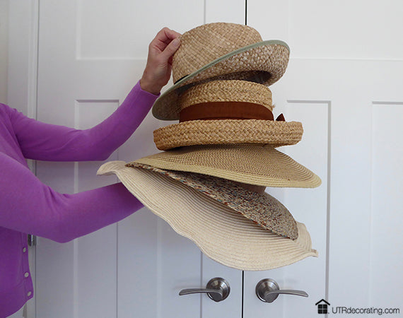 Thrifty Chic Decor Decorating With Straw Hats