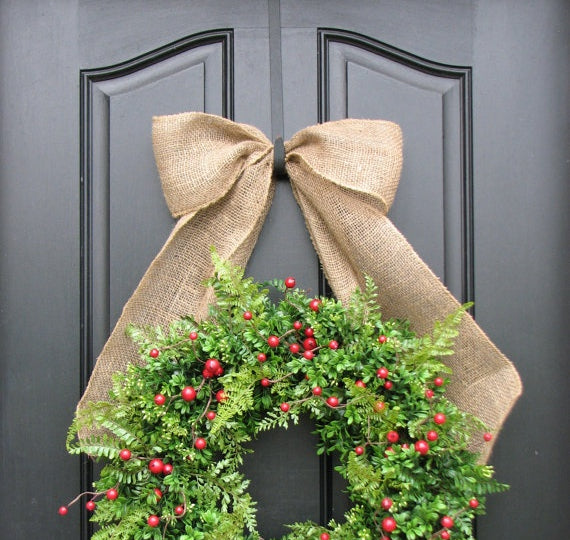 Over-the-door wreath hanger by Etsy