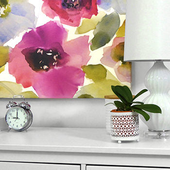 This large spring-time canvas is perfect over this dresser and so easy to hang with our CanvasHangers