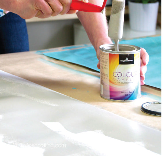 Making paint swatches