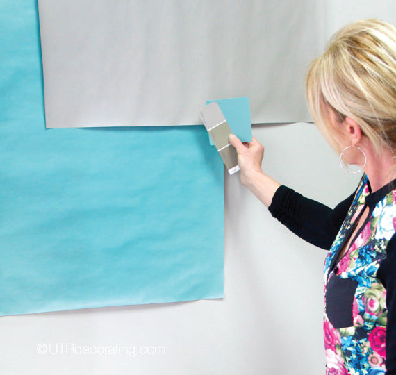 Making large paint chips is a great way to help pick the right paint color.
