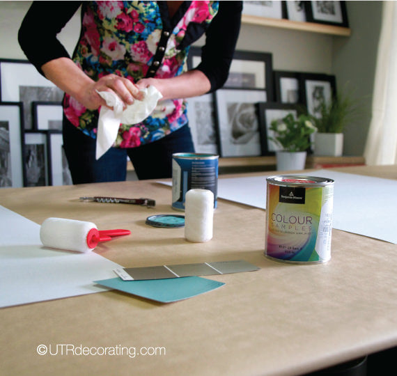 Making large paint swatches