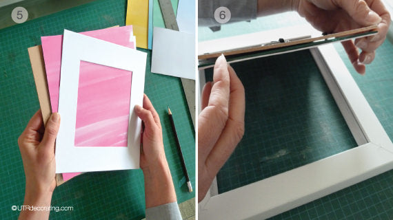 DIY art for your walls: Since you cut the image the same size as the mat, no spray adhesive is needed.