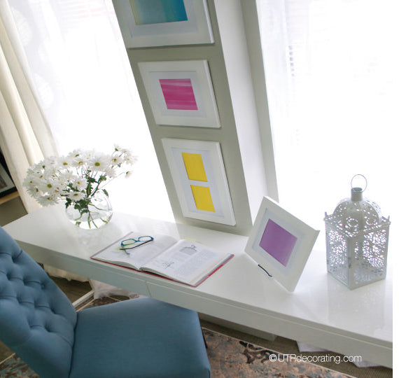 DIY art for your walls: I kept everything neutral in the space to keep the look soft and delicate.