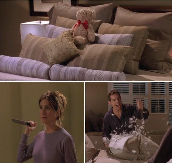 You must watch this pillow stabbing clip of Jennifer Anniston and Ben Stiller