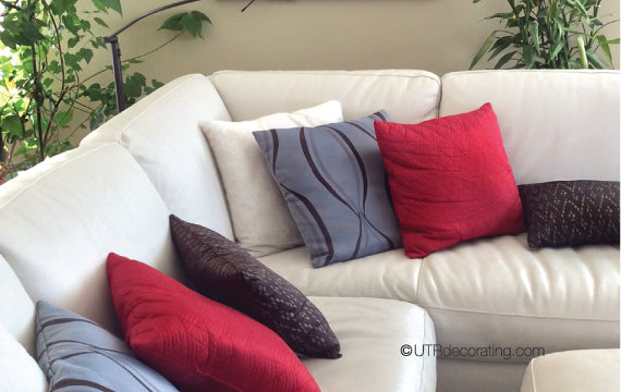 Colorful and affordable synthetic filled pillows