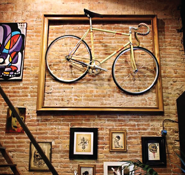 Bike up on the wall