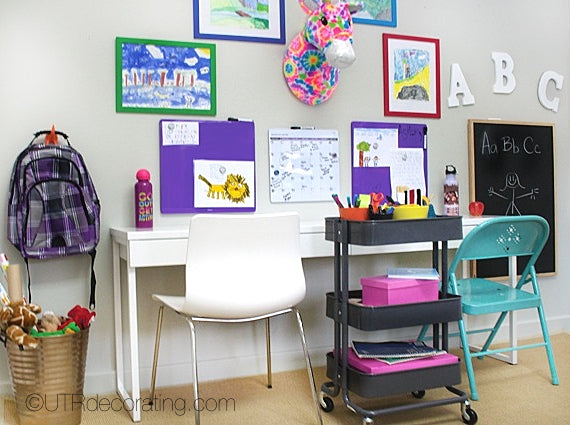Study space for kids and cart