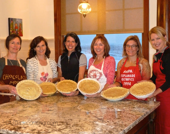 Making tourtières with friends is a tradition we've had for friends