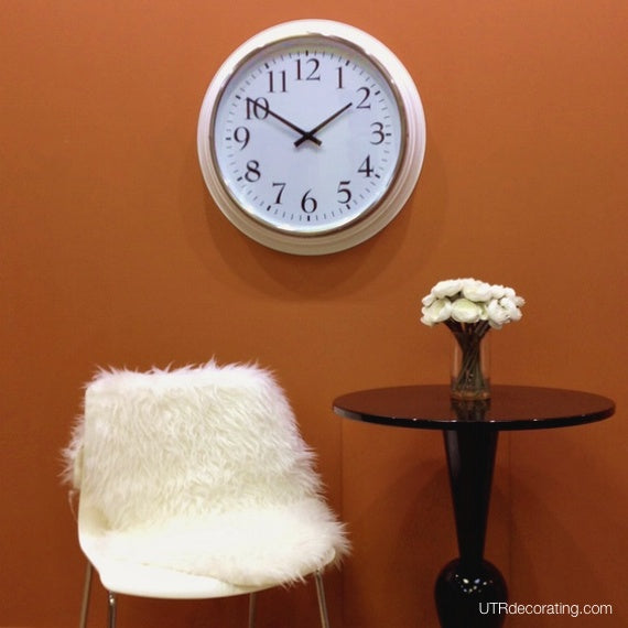 Wall clock large white