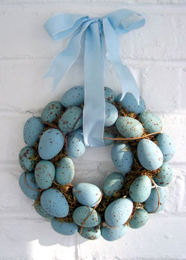 Wreath blue eggs