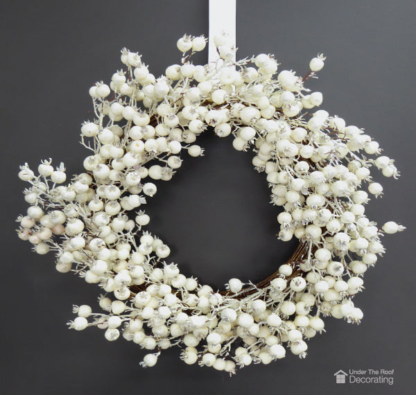 hang a holiday wreath for easy Christmas cheer