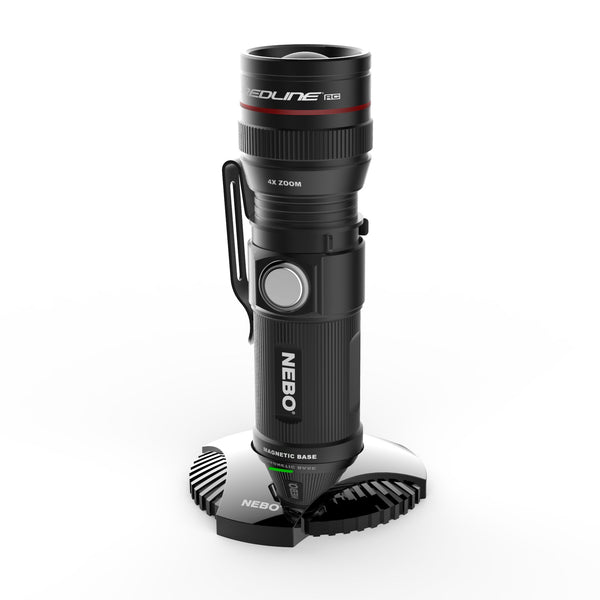 Nebo Rechargeable Redline RC Flashlight with dock