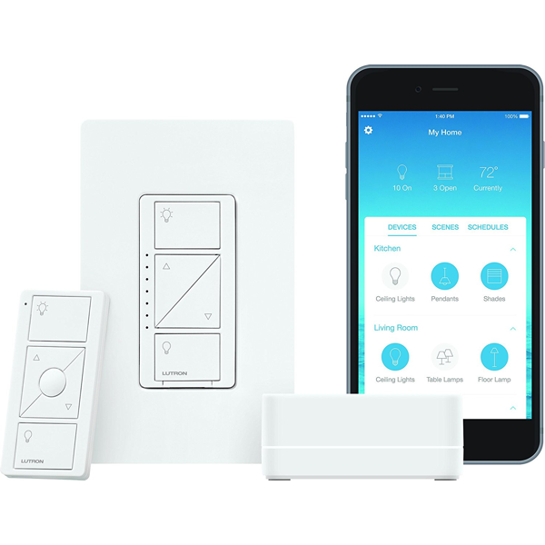 Lutron Caseta Wireless Smart Bridge Dimmer Kit