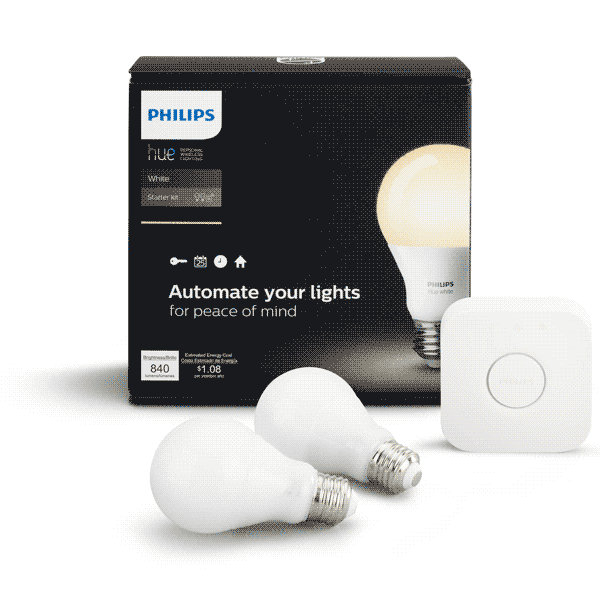 Philips Hue A19 Starter Kit (Multiple Options Available) image 764799123480