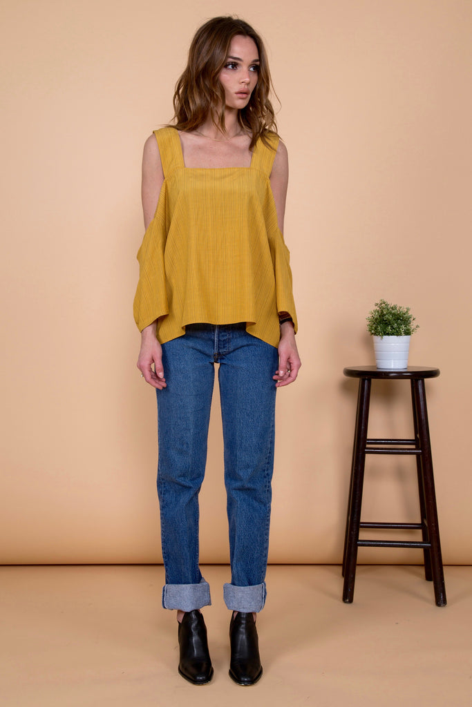WILLOW TOP | MUSTARD STRIPE