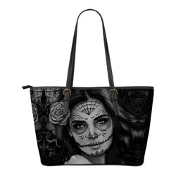 Calavera Leather Tote Bags