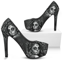 Calavera Girl High Heels-Black Sole Version