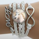 Colour Customized Infinity Horse Bracelets free + shipping