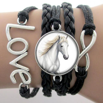Colour Customized Infinity Horse Bracelets