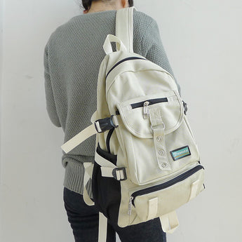 Outdoor Travelling backpack on person back