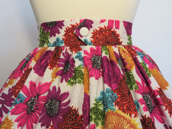 Magenta/Purple Floral Print Skirt